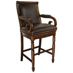 "American Heritage Braxton 30"" High Wood Bar Stool"