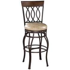"American Heritage Bella 26"" Wheat Leather Counter Stool"
