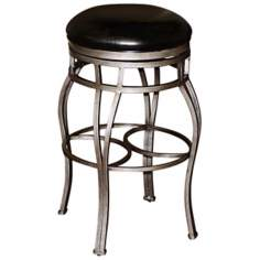 "American Heritage Bella 26"" Black Backless Counter Stool"