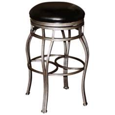 "American Heritage Bella 30"" Black Backless Bar Stool"