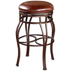 "American Heritage Bella 34"" Bourbon Backless Tall Bar Stool"