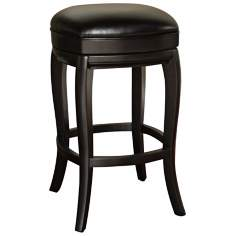 "American Heritage Madrid 30"" High Black Bar Stool"