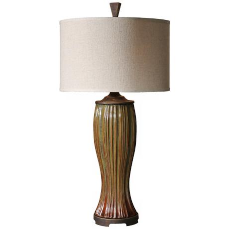 Uttermost Olivola Rust Red Table Lamp