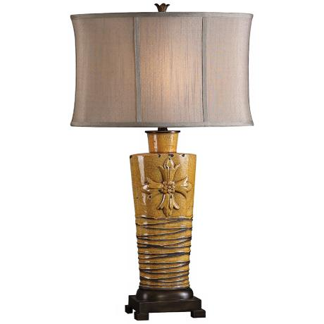 Uttermost Alfiano Golden Yellow Table Lamp