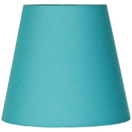 Cotton Blend Turquoise Lamp Shade 3.5x5.5x5 (Clip-On)