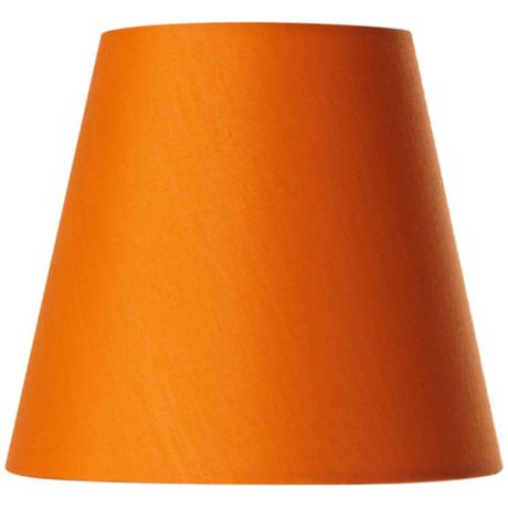 Cotton Blend Orange Lamp Shade 3.5x5.5x5 (Clip-On)