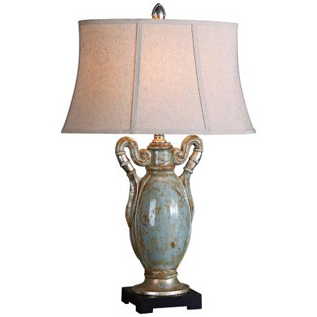 Uttermost Francavilla Crackle Blue Table Lamp