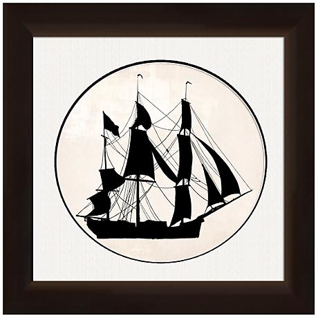 "Ship Silhouette 20"" Wide Nautical Wall Art"