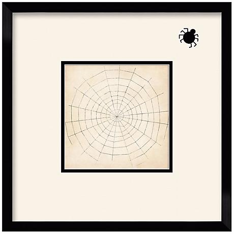"Spiderweb Silhouette 17 1/2"" Square Wall Art"