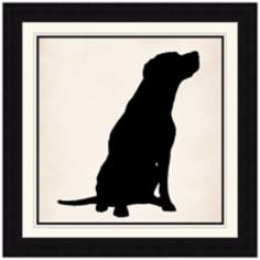 "Dog Silhouette 29"" Square Animal Wall Art"