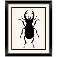 "Beetle Silhouette 26 1/2"" High Insect Wall Art"