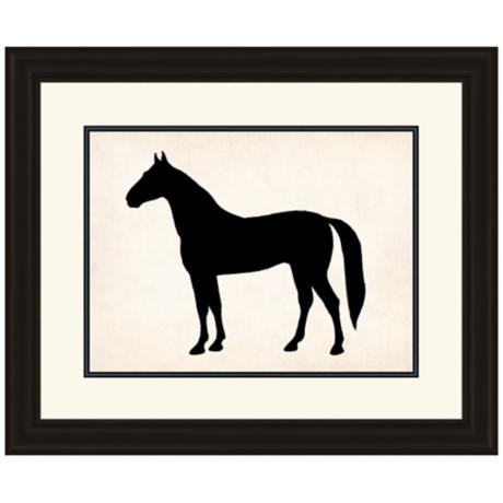 "Horse Silhouette 29"" Wide Animal Wall Art"