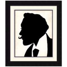 "The Curious Man Silhouette 28 1/4"" High Modern Wall Art"