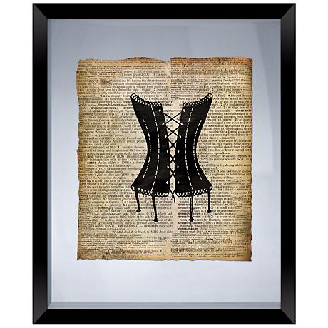 "Vintage Corset 22"" High Floating Picture Frame Wall Art"