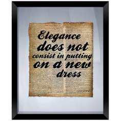"Elegance Quote 22"" High Floating Picture Frame Wall Art"