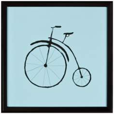 "Bicycle 15"" Square Silhouette Wall Art"