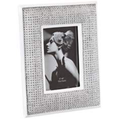 Silver Jeweled 4x6 Art Deco Photo Frame