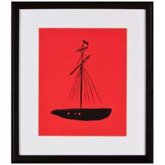 "Boat 16"" High Silhouette Wall Art"