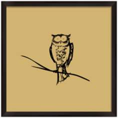 "Owl 11"" Square Silhouette Wall Art"