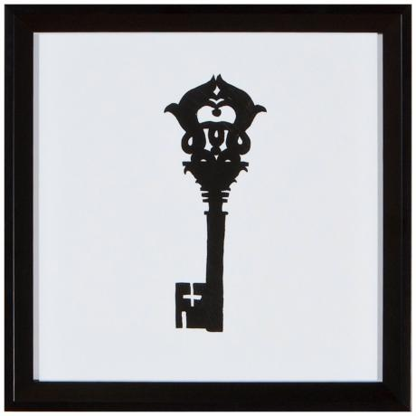 "Key 11"" Square Silhouette Wall Art"