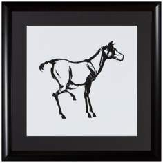"Horse 19 3/4"" High Framed Silhouette Wall Art"