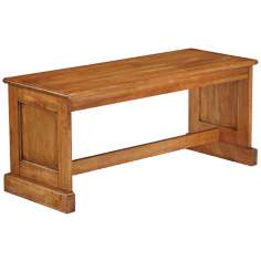 Distressed Oak Dining Bench