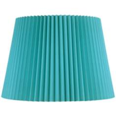 Turquoise Knife Pleat Empire Shade 12x16x12 (Spider)