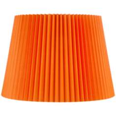 Orange Knife Pleat Empire Shade 12x16x12 (Spider)