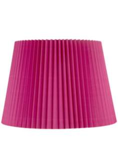 Hot Pink Knife Pleat Empire Shade 13x17x12 (Spider)