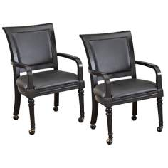 Set of 2 St. Croix Black Game Chairs
