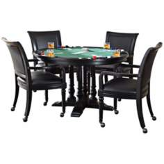 St. Croix Black 5-Piece Game Table Set