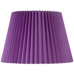 Purple Knife Pleat Empire Shade 11x16x11 (Spider)