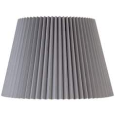 Gray Knife Pleat Empire Shade 11x16x11 (Spider)