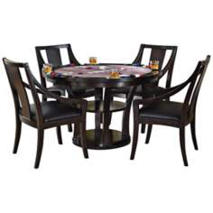 Rio Vista 5-Piece Espresso Game Table Set