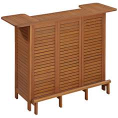 Montego Bay Eucalyptus U-Shaped Outdoor Bar Cabinet