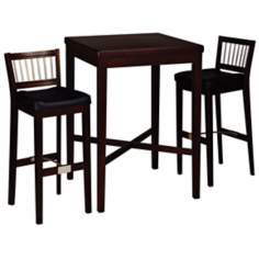 Cherry 3-Piece Pub Table and Stool Set