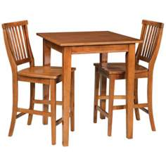 Arts and Crafts Cottage Oak 3-Piece Bistro Set