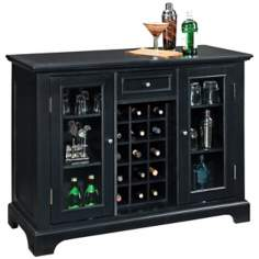 Bedford Ebony Bar Cabinet