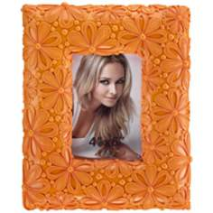 Orange Daisy 4x6 Floral Picture Frame