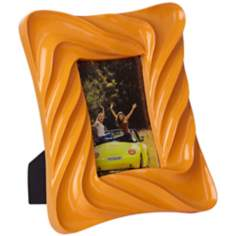 Contemporary Wave 4x6 Orange Picture Frame