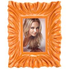 Orange Lacquer Beveled Edge 4x6 Picture Frame