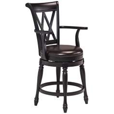 "Monarch Black Swivel 24"" Counter Stool"