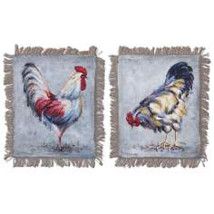 "Set of 2 Farm Yard Kings 20"" High Uttermost Wall Art"