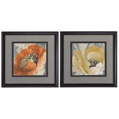 "Spring Poppies 31"" Square Uttermost Wall Art"