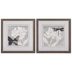 "Set of 2 Natural Prints 30"" Square Uttermost Wall Art"