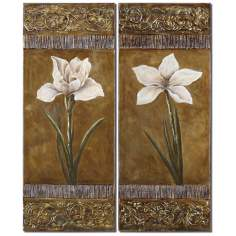 "Set of 2 Regal Beauties 50"" High Uttermost Wall Art"