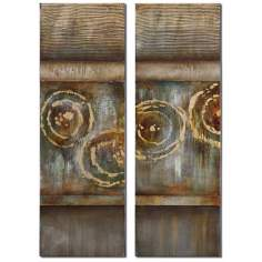 "Set of 2 Focus 48"" High Uttermost Wall Art"