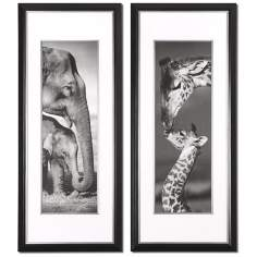 "Set of 2 Exotic Giants 52"" High Uttermost Wall Art"