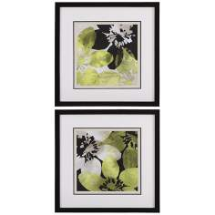 "Uttermost Set of 2 Bloomer 27"" Square Wall Art"