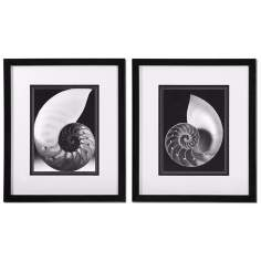 "Uttermost Set of 2 Study of Shells 27"" High Coastal Wall Art"